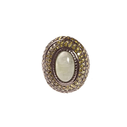 Bague Argent Ovalite Peridot