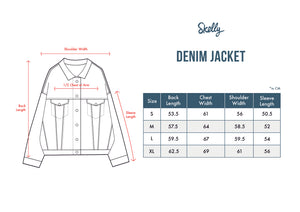 Lightning Denim Jacket - Skellyshop Singapore | Skelly Original Jackets | skellyshop.co.uk