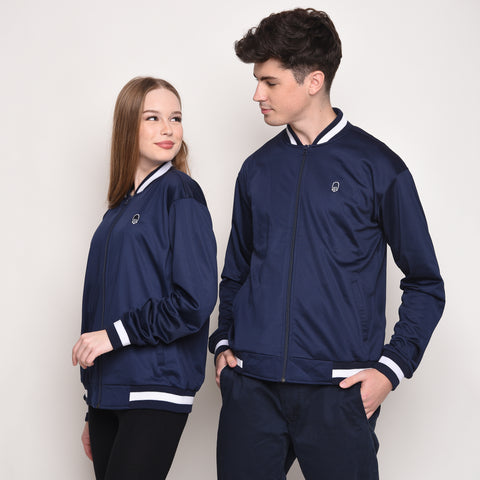 Retro Jacket in Navy - Skellyshop Singapore | Skellyshop Singapore Jackets | skellyshop.co.uk