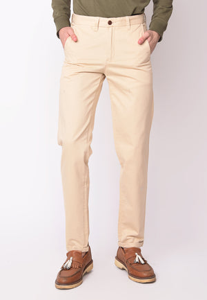 Kennedy Twill Pants in Beige - Skellyshop Singapore | Skelly Collective Trousers | skellyshop.co.uk