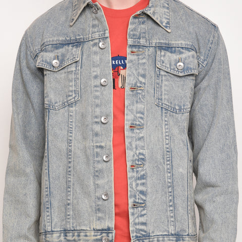 Tim Denim Jacket in Ace Wash - Skellyshop Singapore | Skelly Ltd Jackets | skellyshop.co.uk