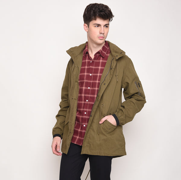 Skelly Topmod Parka in Olive Green