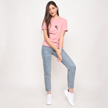 Peeping Guard Graphic T-Shirt in Pink - Skellyshop Singapore | Skelly Original T-Shirts | skellyshop.co.uk