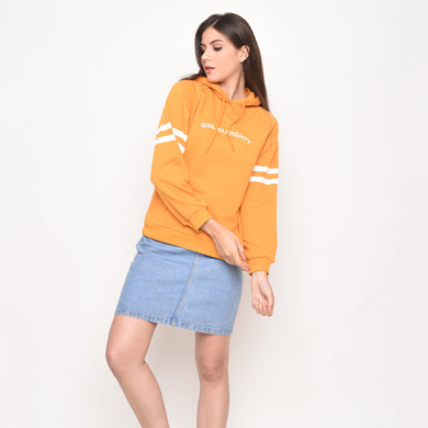 Girl Almighty NY Hoods LS in Yellow - Skellyshop Singapore | Skelly Original Sweatshirts | skellyshop.co.uk