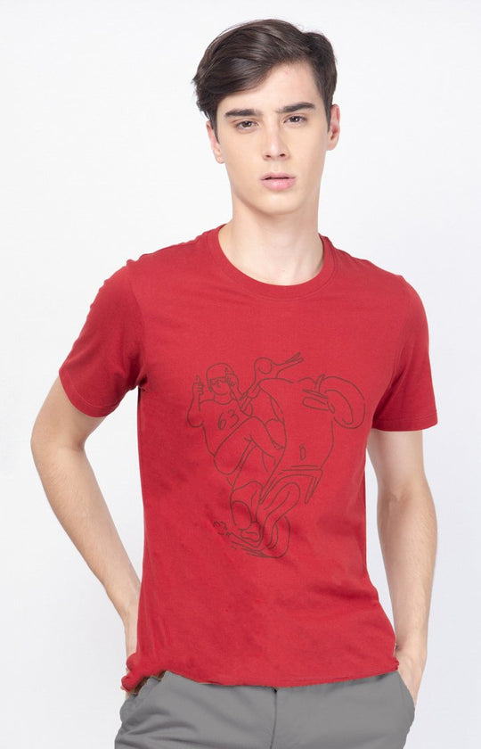 Scooter Racer Tee Red