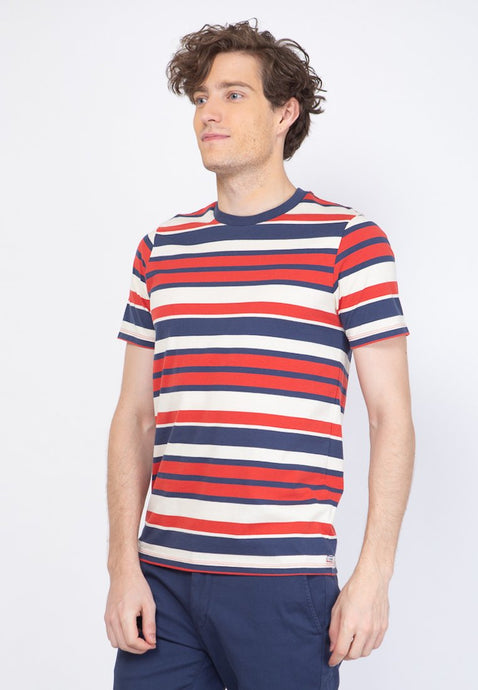 Topmod Stripe T-Shirt in Red - Skellyshop Singapore | Skelly Original T-Shirts | skellyshop.co.uk