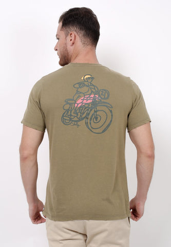 Badas Club Graphic T-Shirt in Olive - Skellyshop Singapore | Skelly Original T-Shirts | skellyshop.co.uk