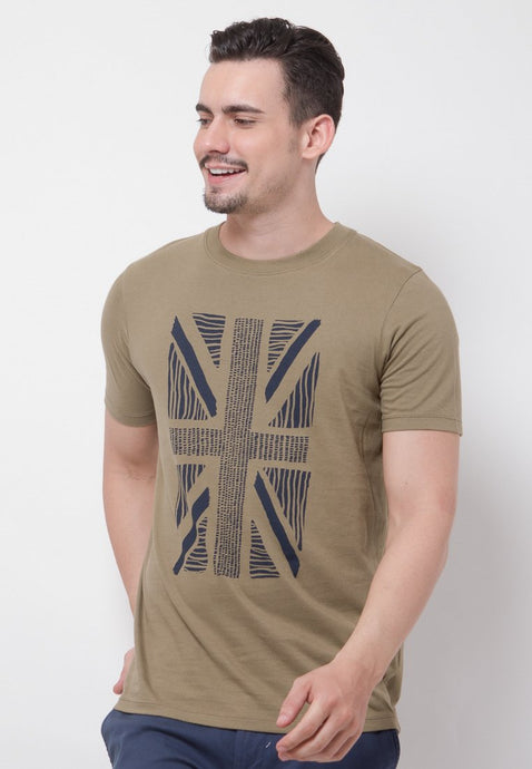 UK Flash Graphic T-shirt in Olive - Skellyshop Singapore | Skelly Original T-Shirts | skellyshop.co.uk