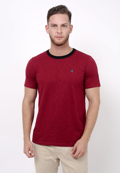 Guardian Slub T-shirt Red - Skellyshop Singapore | Skelly Original T-Shirts | skellyshop.co.uk