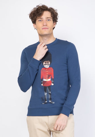 Royal Guard MMIX Pullovers in Uniform Blue - Skellyshop Singapore | Skelly Original Sweatshirts | skellyshop.co.uk