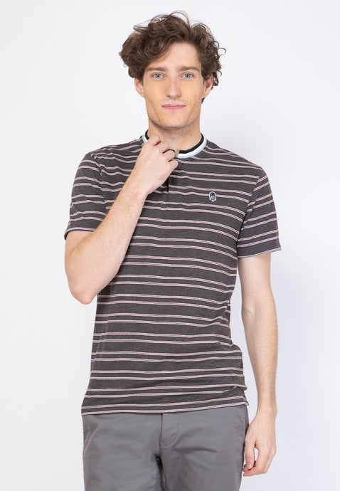 Guardian Band Collar Stripe T-shirt - Skellyshop Singapore | Skelly Original T-Shirts | skellyshop.co.uk