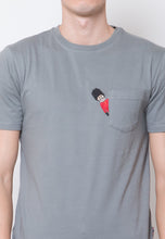 Peeping Guard Pocket Printed T-shirt - Skellyshop Singapore | Skelly Original T-Shirts | skellyshop.co.uk