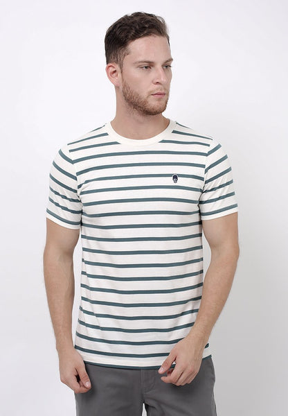 Evenlike Stripe T-Shirt in Offwhite - Skellyshop Singapore | Skelly Original T-Shirts | skellyshop.co.uk
