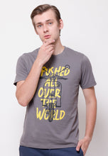 All Over The World Scooter Graphic T-shirt in Grey - Skellyshop Singapore | Skelly Original T-Shirts | skellyshop.co.uk