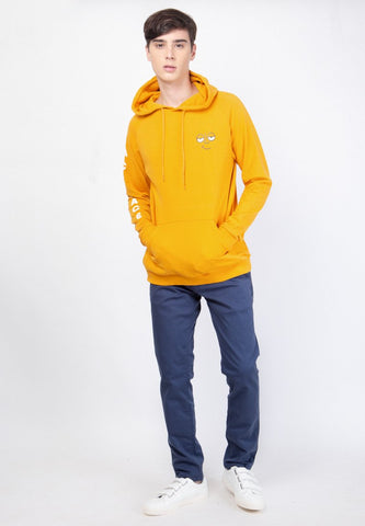 Ace Face Hooded Sweatshirt in Yellow - Skellyshop Singapore | Skelly Original Sweatshirts | skellyshop.co.uk