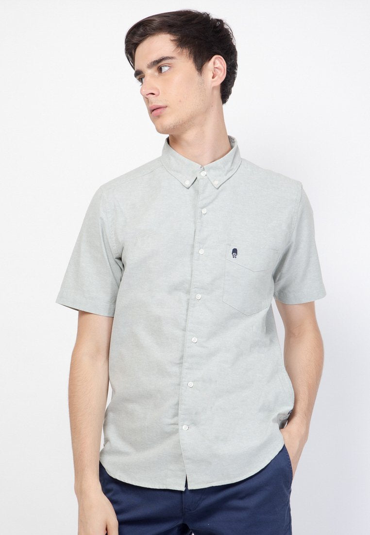 Guardian Hiro Oxford SS Shirt in Pistac - Skellyshop Singapore | Skelly Original Shirts | skellyshop.co.uk