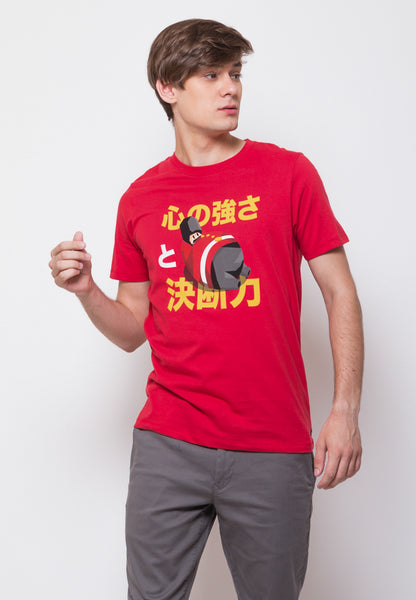 Tuby Guard Graphic T-shirt in Tango Red