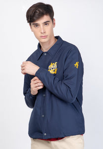 Ace Face Coach Jacket Navy - Skellyshop Singapore | Skelly Original Jackets | skellyshop.co.uk