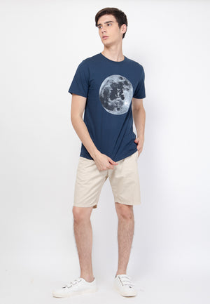 Scoot to The Moon Graphic T-Shirt in Navy - Skellyshop Singapore | Skellyshop Singapore T-Shirts | skellyshop.co.uk