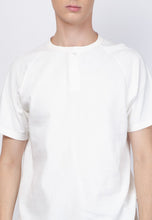 Waffle Henley Raglan in White - Skellyshop Singapore | Skelly Original T-Shirts | skellyshop.co.uk