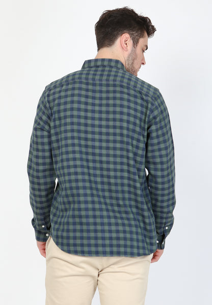 Lucas Flannel LS in Green Plaid - Skellyshop Singapore | Skellyshop Singapore Shirts | skellyshop.co.uk