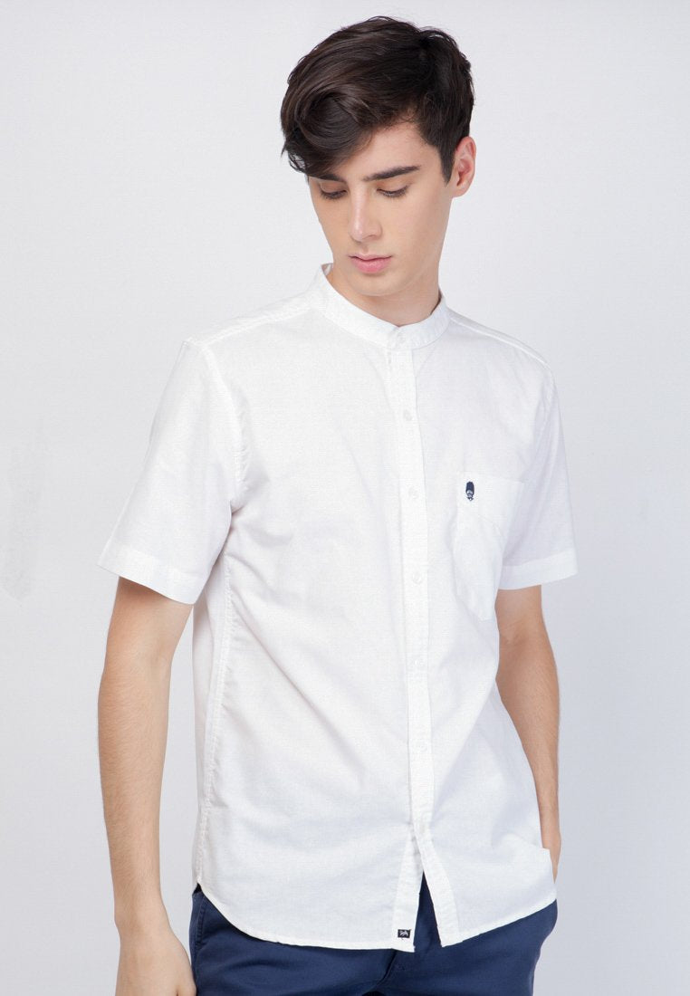 Guardian Alan Oxford in White - Skellyshop Singapore | Skelly Original Shirts | skellyshop.co.uk