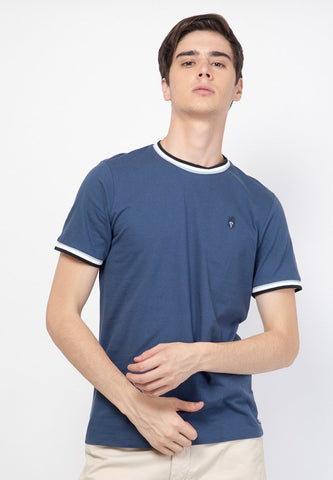 Guardian Ringer T-Shirt in Navy - Skellyshop Singapore | Skelly Original T-Shirts | skellyshop.co.uk