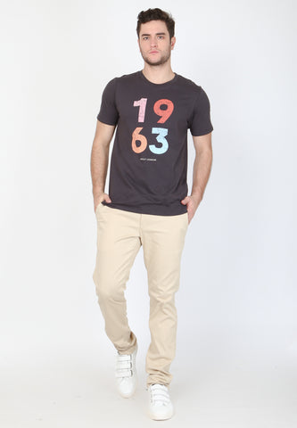 1963 Pop Graphic T-Shirt In Jet Black - Skellyshop Singapore | Skelly Original T-Shirts | skellyshop.co.uk