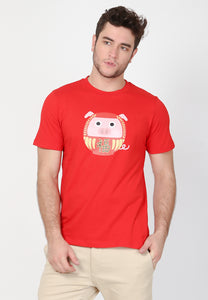 Daruta CNY Graphic T-Shirt in Red - Skellyshop Singapore | Skelly Original T-Shirts | skellyshop.co.uk