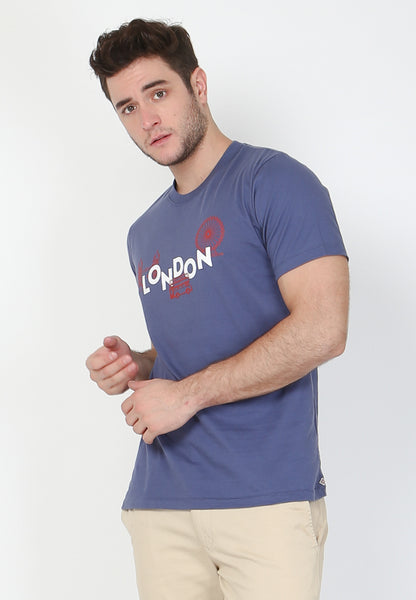 London Skyline Graphic T-Shirt in Marlin Blue