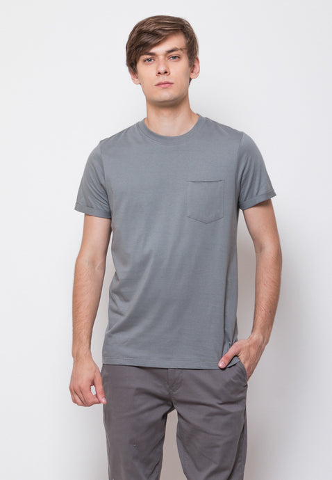 Byron Pocket Rolled Sleeve T-shirts in Sedona Sage - Skellyshop Singapore | Skelly Original T-Shirts | skellyshop.co.uk