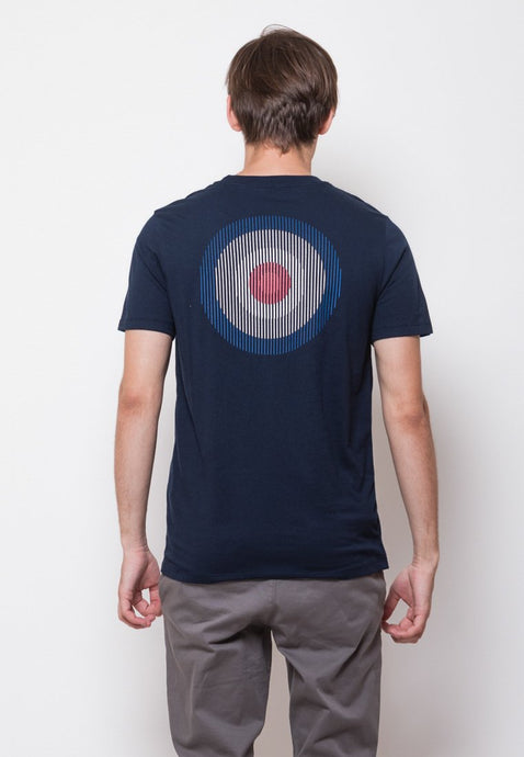 Mod Scan Graphic T-shirt in Navy - Skellyshop Singapore | Skelly Original T-Shirts | skellyshop.co.uk