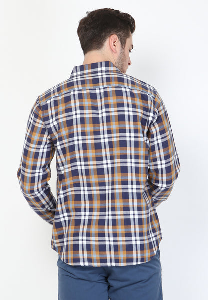 Lucas Flannel LS in Blue Plaid - Skellyshop Singapore | Skellyshop Singapore Shirts | skellyshop.co.uk
