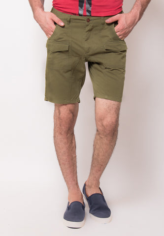Alvin Shorts in Olive - Skellyshop Singapore | Skelly Collective Shorts | skellyshop.co.uk
