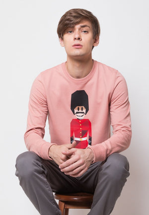 Royal Guard MMIX Pullovers in Dusty Pink - Skellyshop Singapore | Skelly Original Sweatshirts | skellyshop.co.uk