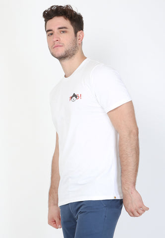 Tokyo Sumo Graphic T-Shirt in White - Skellyshop Singapore | Skellyshop Singapore T-Shirts | skellyshop.co.uk
