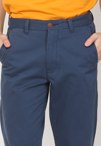 Kennedy Twill Pants in Navy - Skellyshop Singapore | Skelly Collective Trousers | skellyshop.co.uk