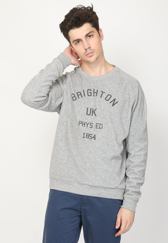 Brighton Phys Fleece Sweatshirt in Grey - Skellyshop Singapore | Skellyshop Singapore Sweatshirts | skellyshop.co.uk