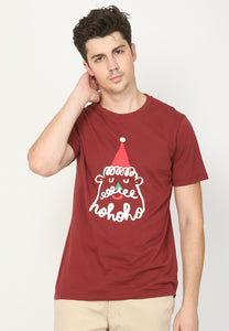 Santa Liner T-shirt in Wine Burgundy - Skellyshop Singapore | Skellyshop Singapore T-Shirts | skellyshop.co.uk