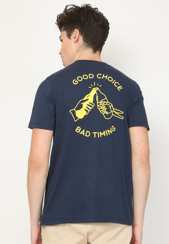 Good Choice Graphic T-Shirt In Navy - Skellyshop Singapore | Skellyshop Singapore T-Shirts | skellyshop.co.uk