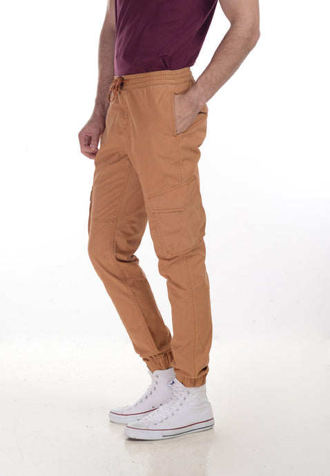 Brooksby Jogger Pants in Mustard - Skellyshop Singapore | Skelly Collective Joggers | skellyshop.co.uk