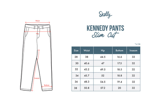 Kennedy Twill Pants in Dark Slate - Skellyshop Singapore | Skelly Collective Trousers | skellyshop.co.uk