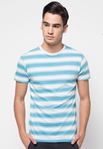 Surf Stripe T-shirts Blue - Skellyshop Singapore | Skelly Original T-Shirts | skellyshop.co.uk