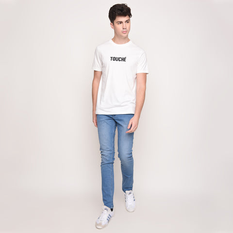 Touché Graphic T-Shirt In White - Skellyshop Singapore | Skelly Original T-Shirts | skellyshop.co.uk