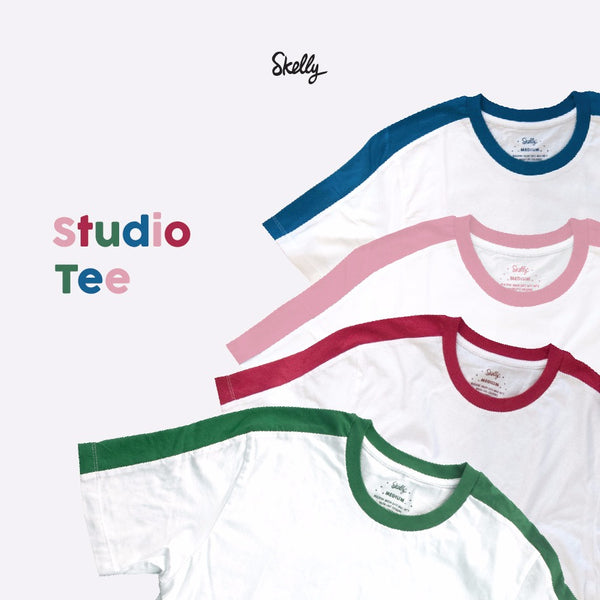 Studio Tee in Pink Shell - Skellyshop Singapore | Skelly Original T-Shirts | skellyshop.co.uk
