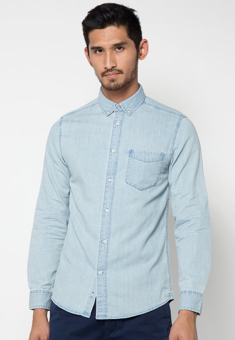 Brooklyn True Denim Shirts - Skellyshop Singapore | Skelly Collective Shirts | skellyshop.co.uk