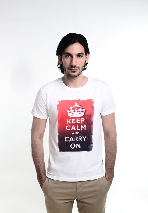 Keep Calm Watercolor Graphic T-shirt - Skellyshop Singapore | Skelly Original T-Shirts | skellyshop.co.uk