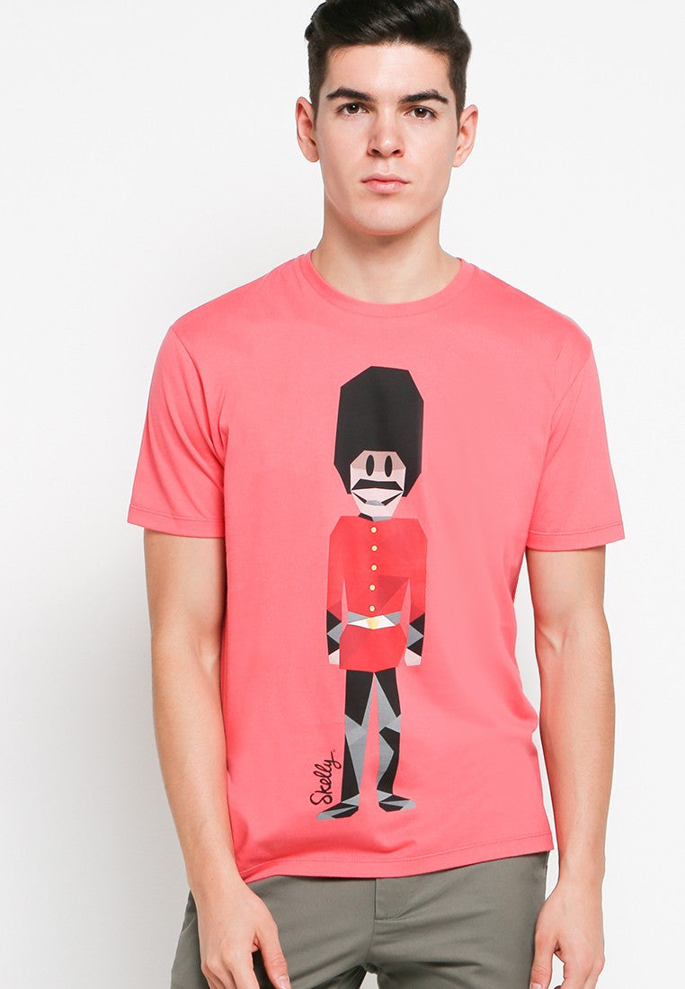 Royal Guard MMIX Graphic T-shirt in Coral Pink - Skellyshop Singapore | Skelly Original T-Shirts | skellyshop.co.uk