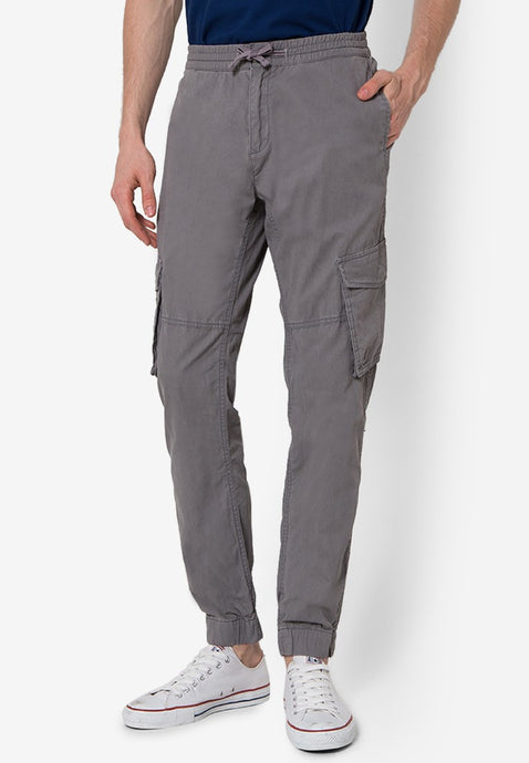 Brooksby Jogger Pants in Grey - Skellyshop Singapore | Skelly Collective Joggers | skellyshop.co.uk