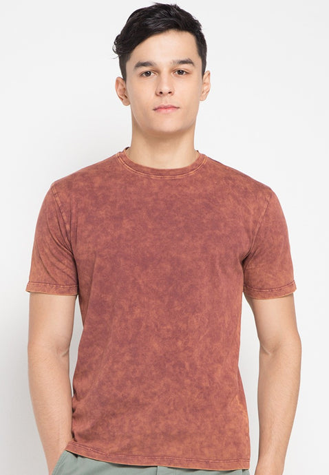 Rubber Ball Washed T-shirts in Copper